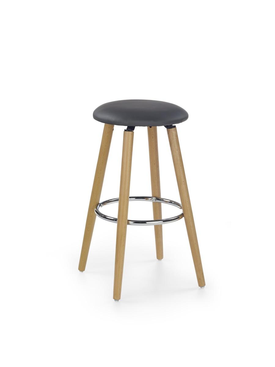 Smartshop Barová židle H76, šedá ekokůže