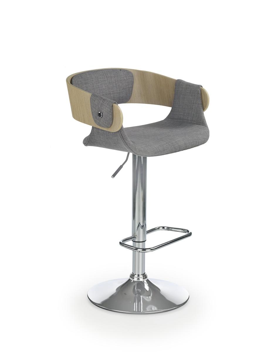 Smartshop Barová židle H79, buk/šedá