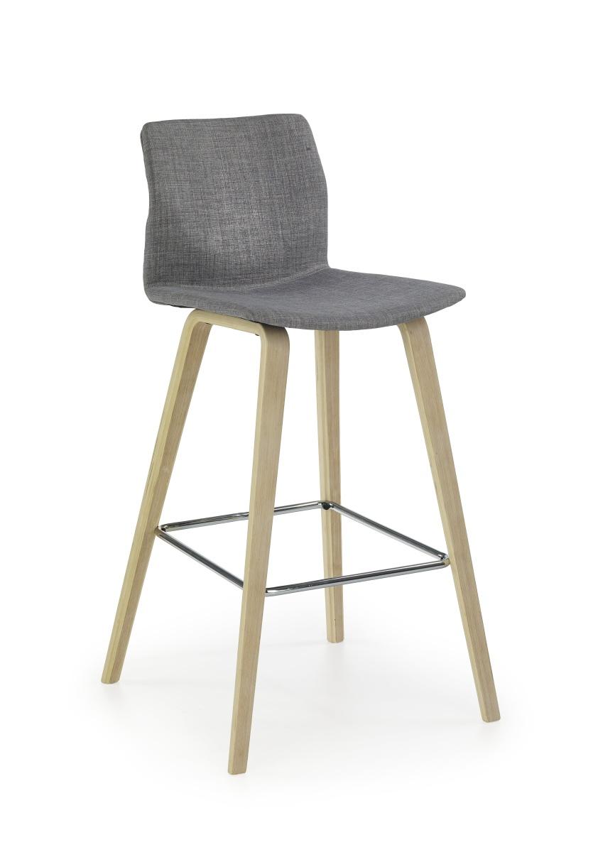 Smartshop Barová židle H80, buk/šedá