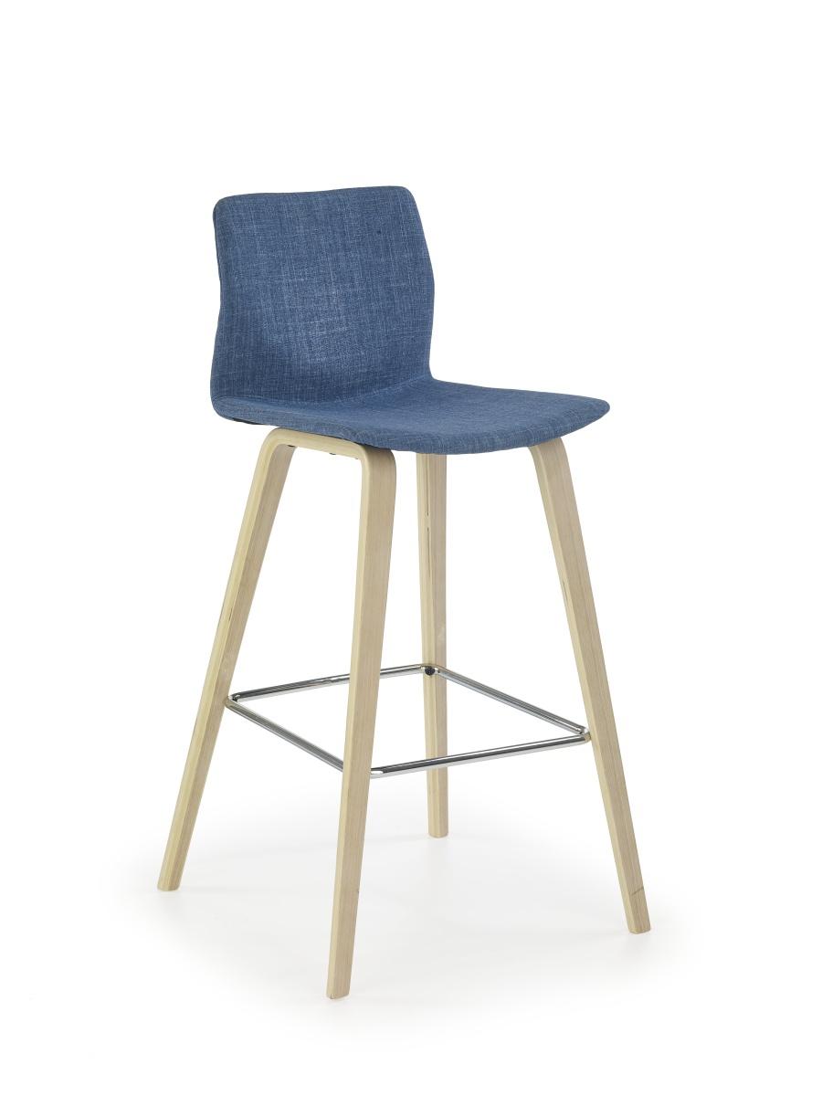 Smartshop Barová židle H80, buk/tyrkysová