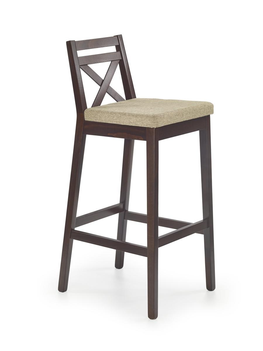 Halmar Barová židle vysoká BORYS, ořech tmavý