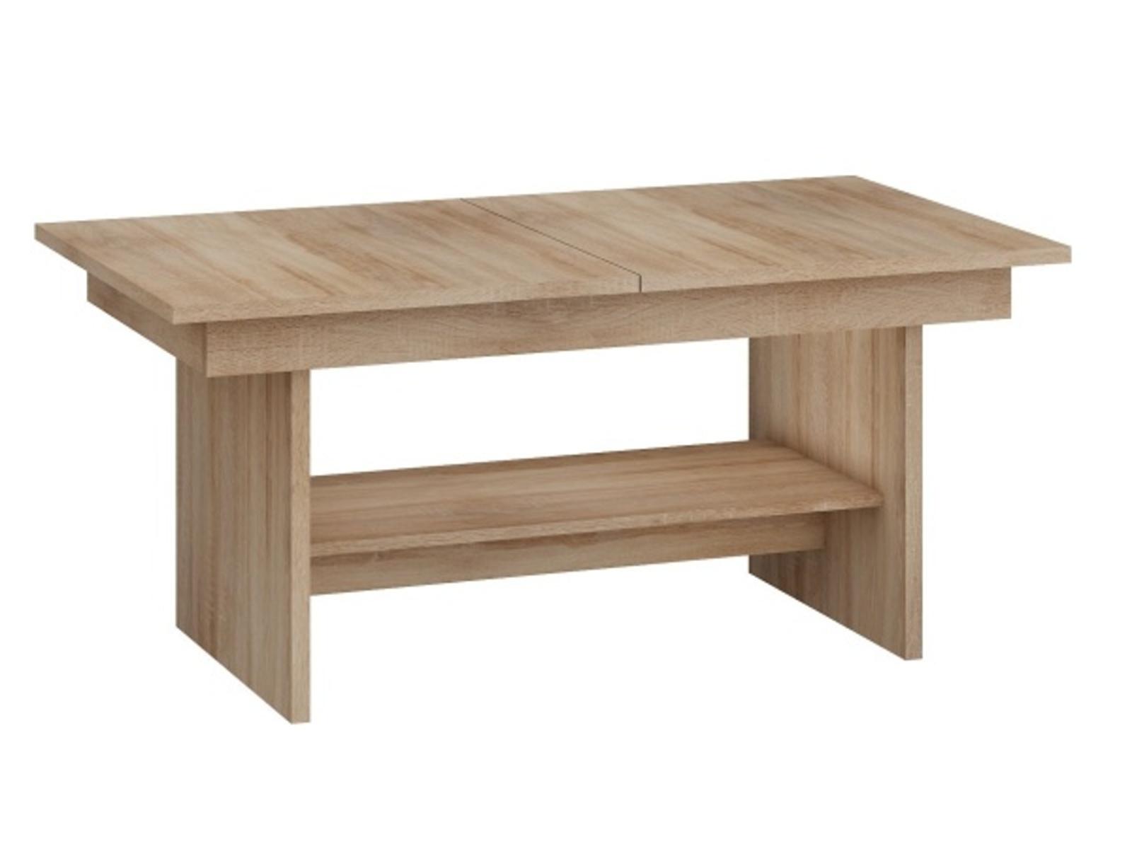MORAVIA FLAT Konferenční stolek DALLAS rozkládací MAT, barva: dub sonoma