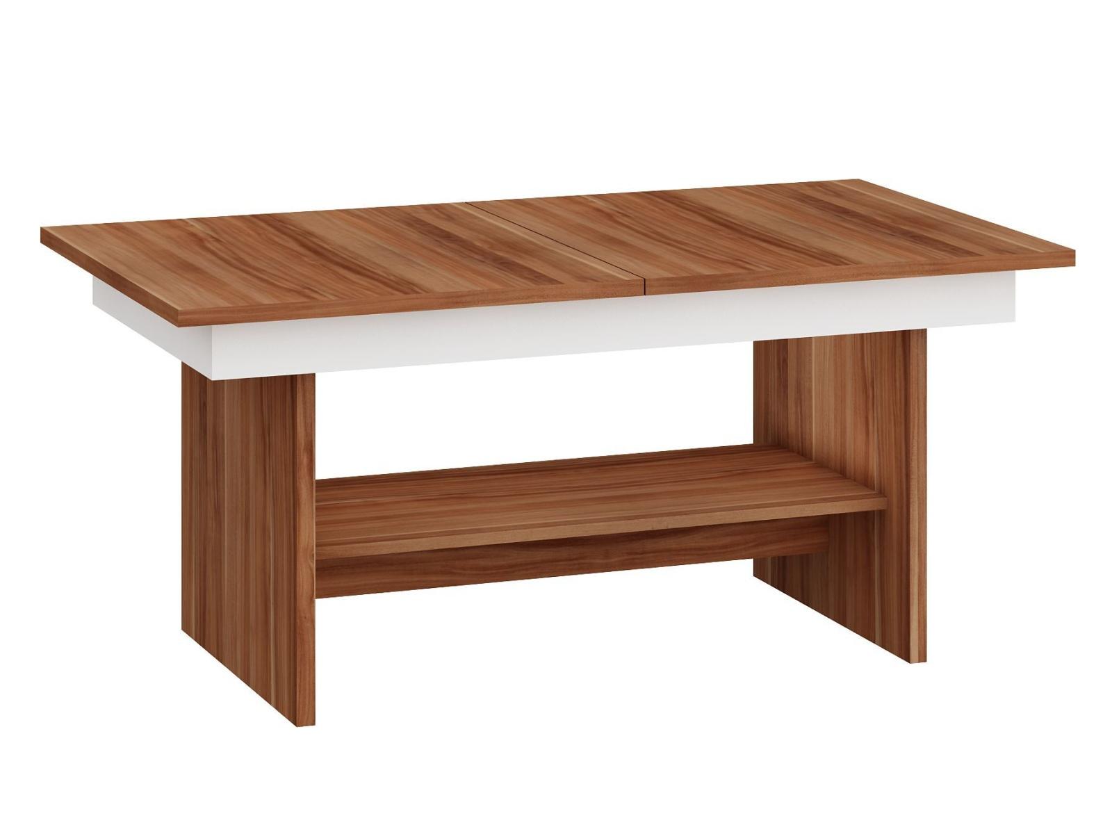 MORAVIA FLAT Konferenční stolek DALLAS rozkládací MAT, barva: švestka wallis/bílá
