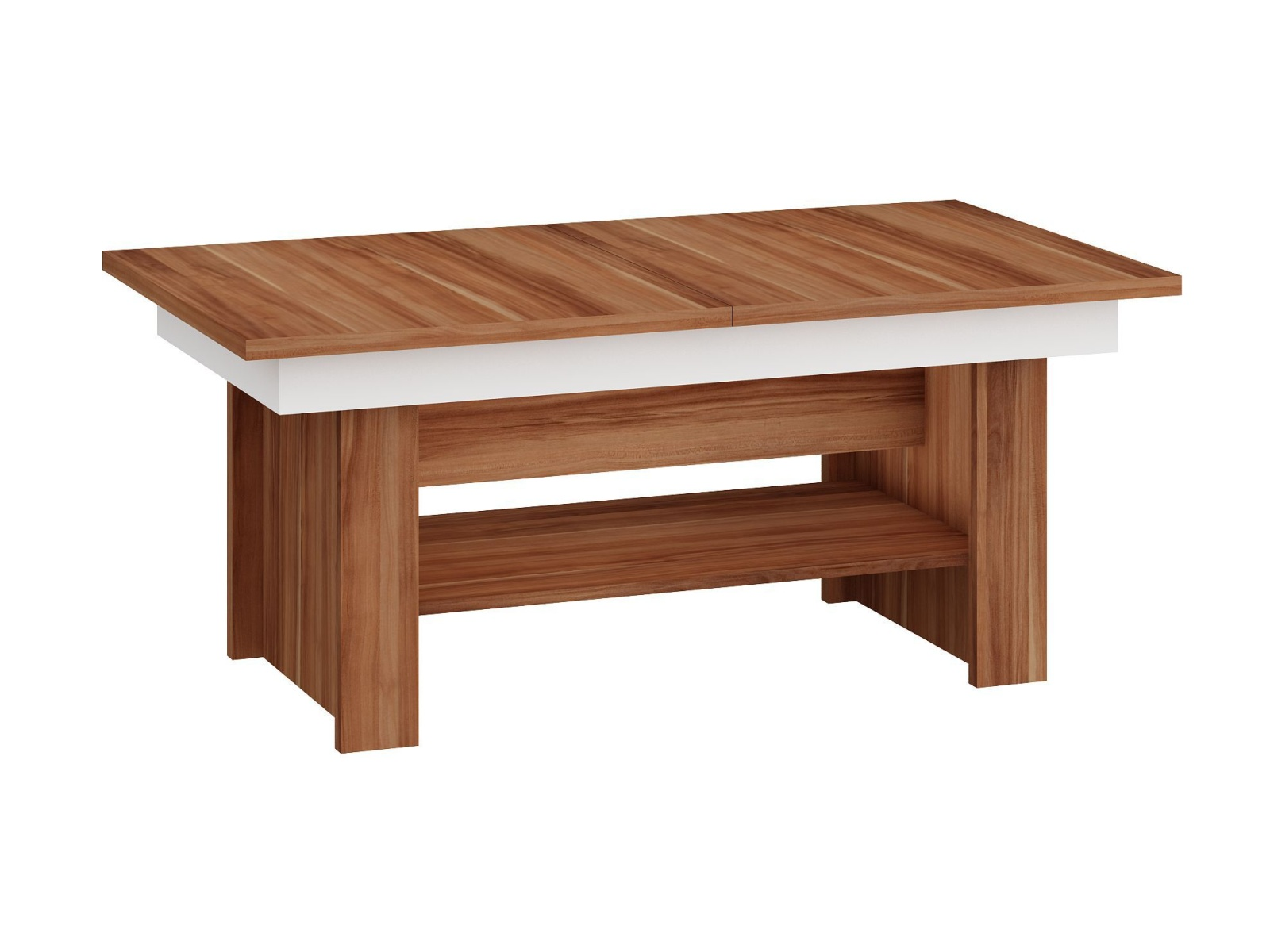 MORAVIA FLAT Konferenční stolek MEXICO rozkládací MAT, barva: švestka wallis/bílá
