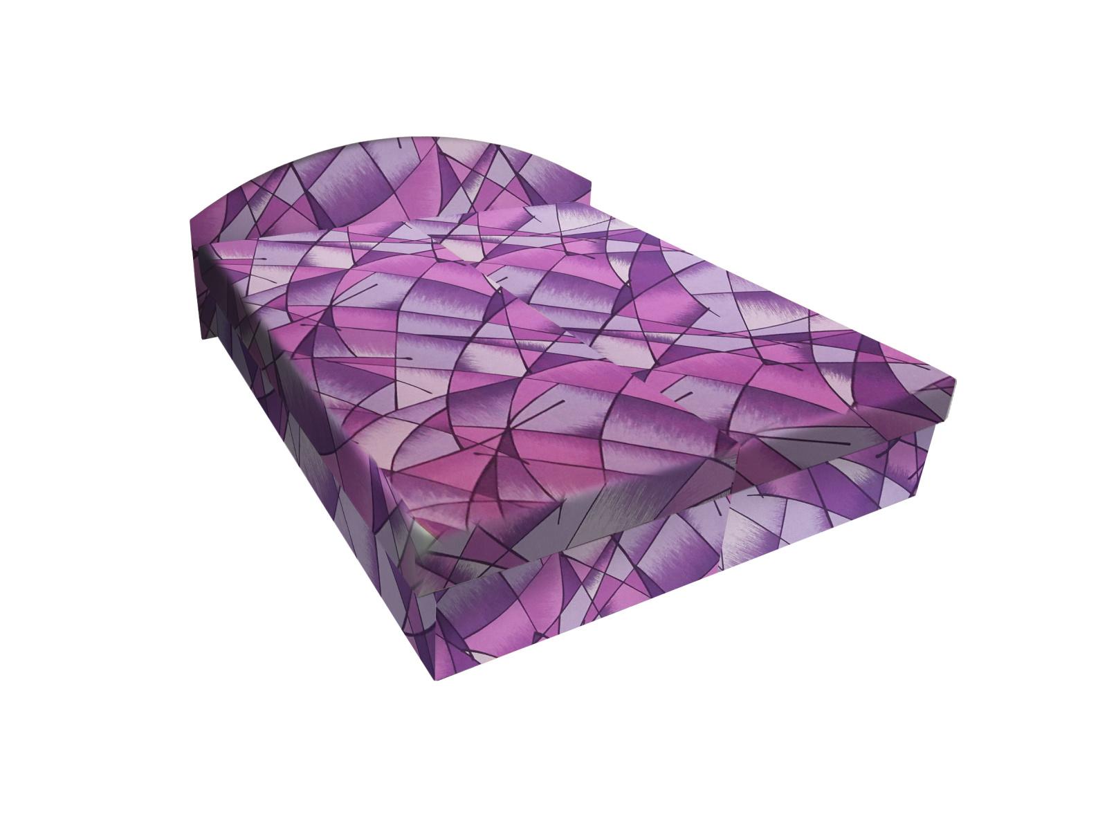 Smartshop Čalouněná postel ÁJA 160x195 cm, fialová látka