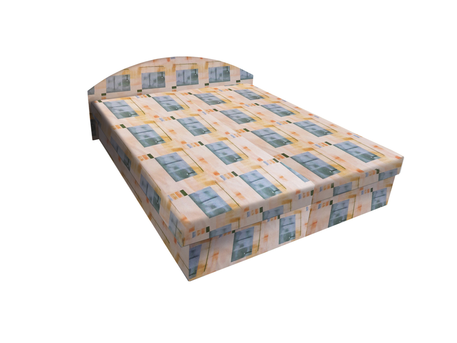 Smartshop Čalouněná postel ÁJA 120x200 cm, béžová látka