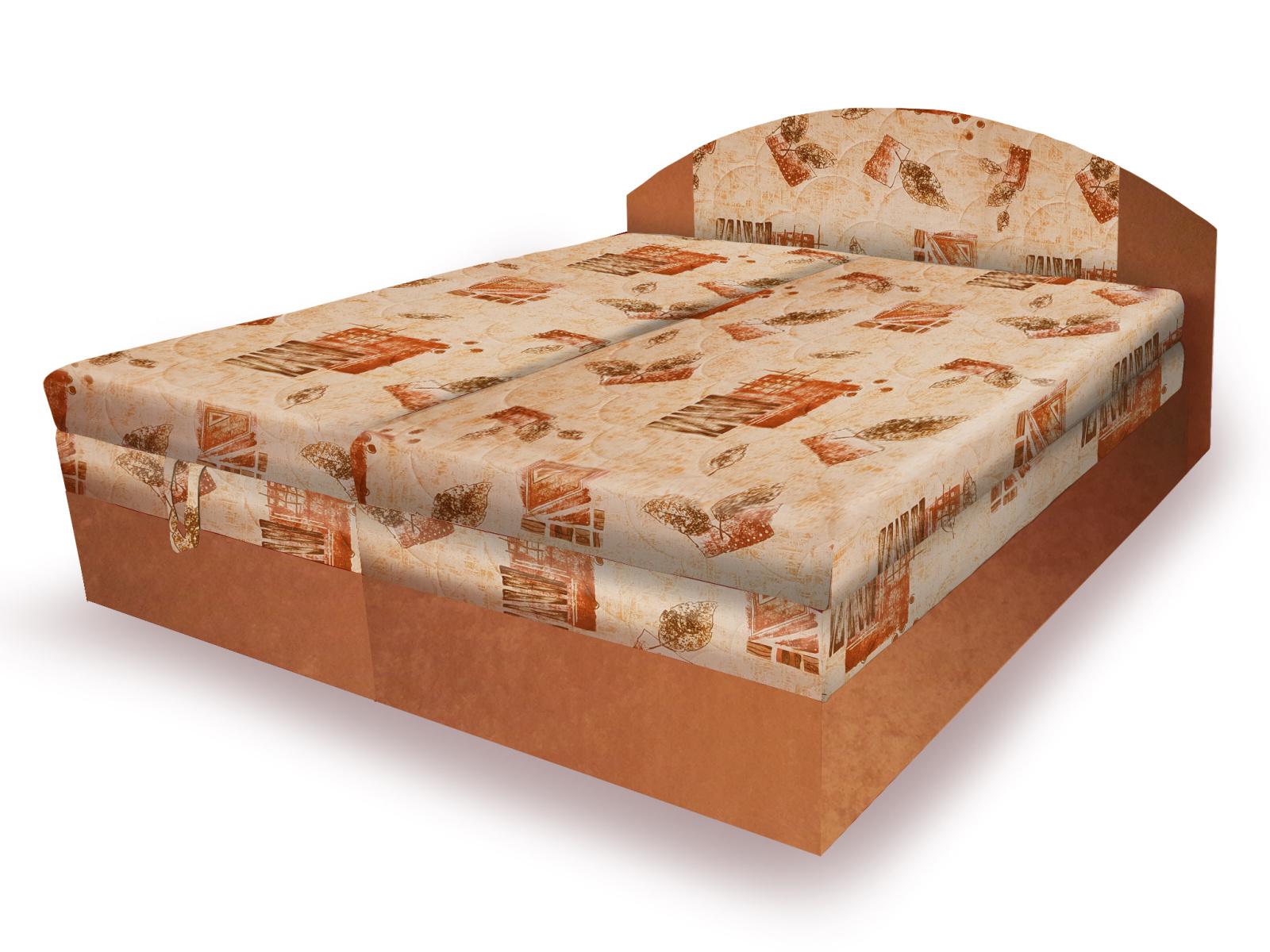 Smartshop Polohovací čalouněná postel VESNA 160x200 cm, béžová látka