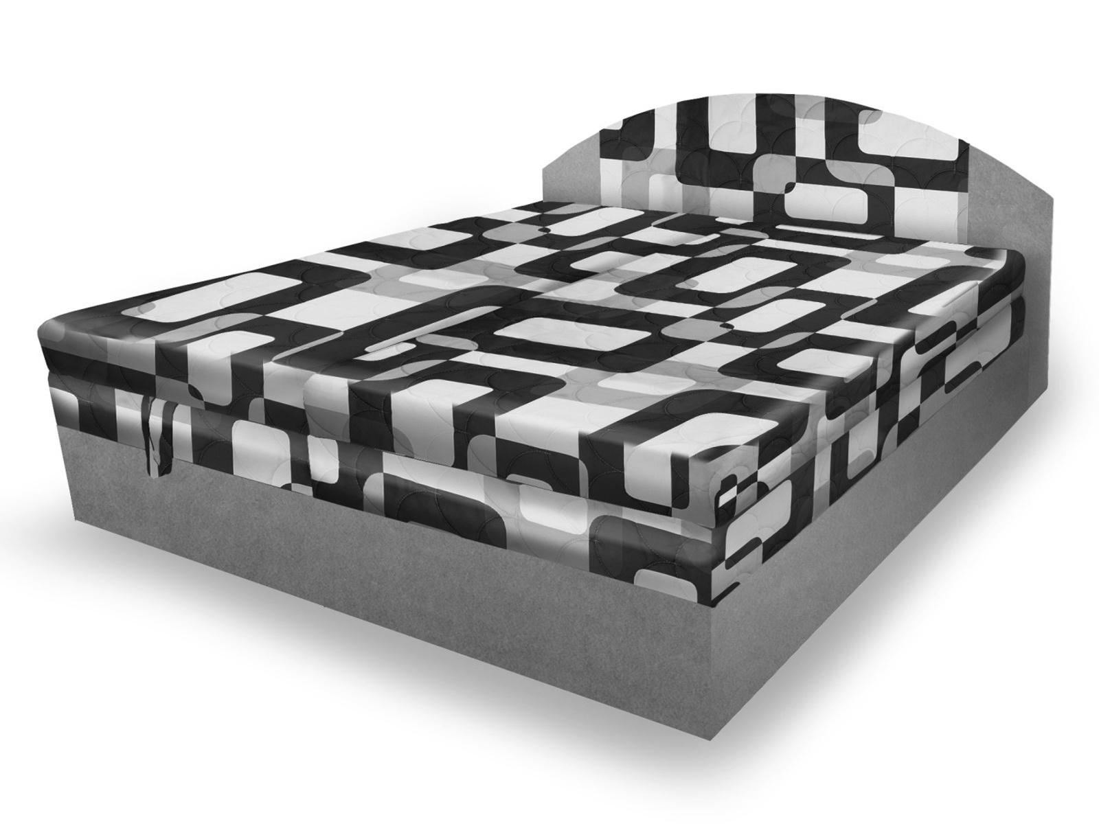 Smartshop Polohovací čalouněná postel VESNA 160x200 cm, šedá látka