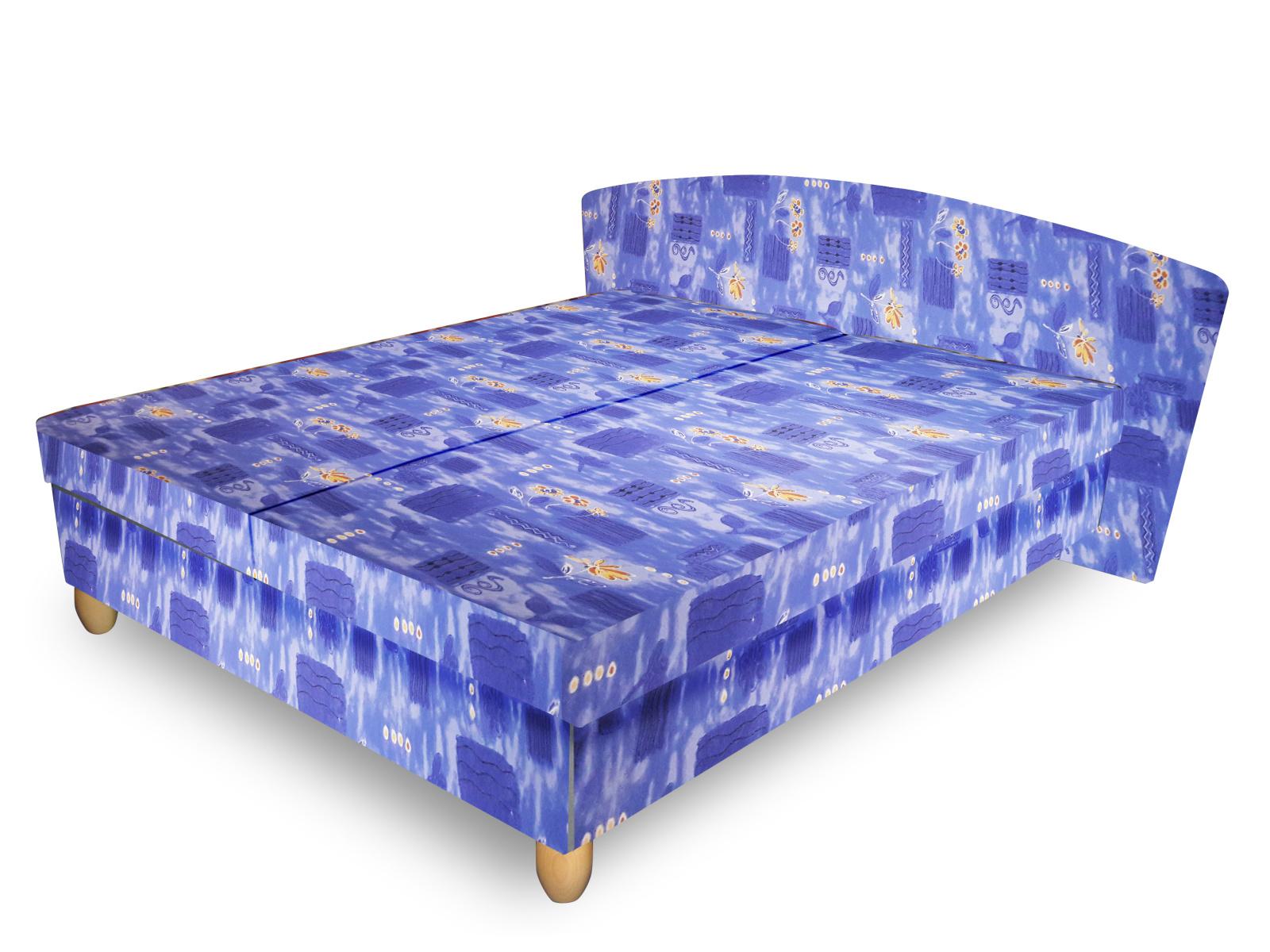 Smartshop Čalouněná postel NICOL 160x195 cm, modrá látka