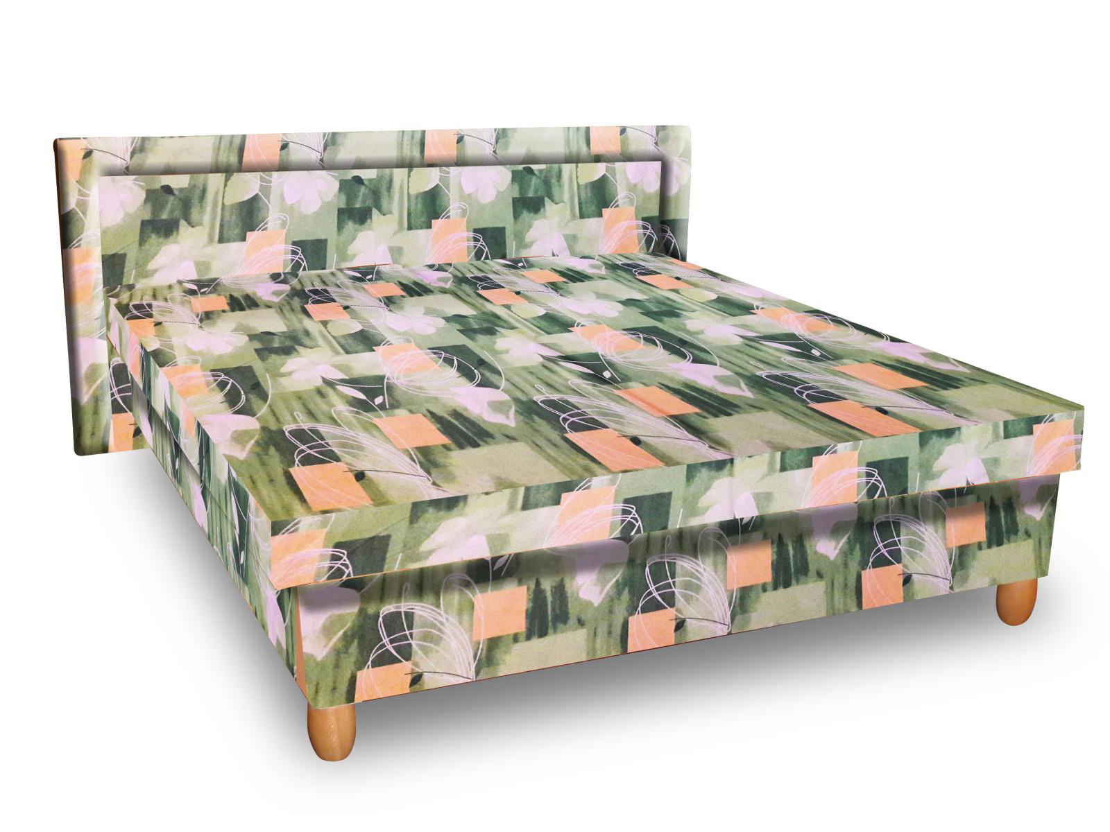 Smartshop Čalouněná postel IVA 160x195 cm, zelená látka