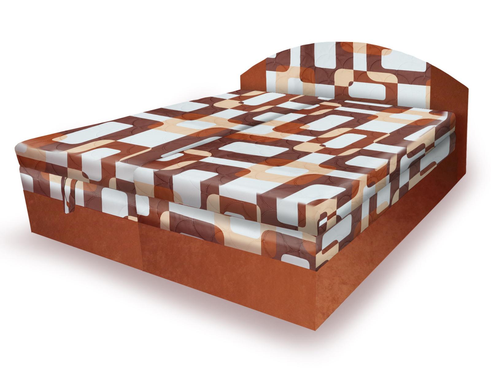 Smartshop Polohovací čalouněná postel VESNA 160x200 cm, hnědá látka