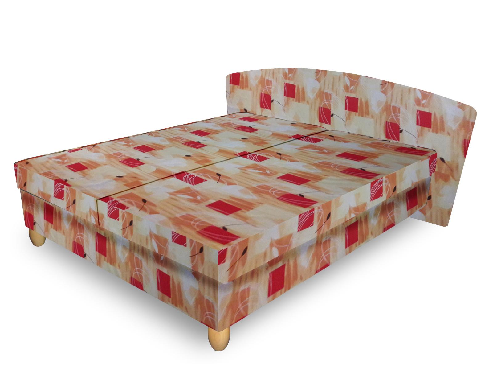 Smartshop Čalouněná postel NICOL 120x200 cm, oranžová látka