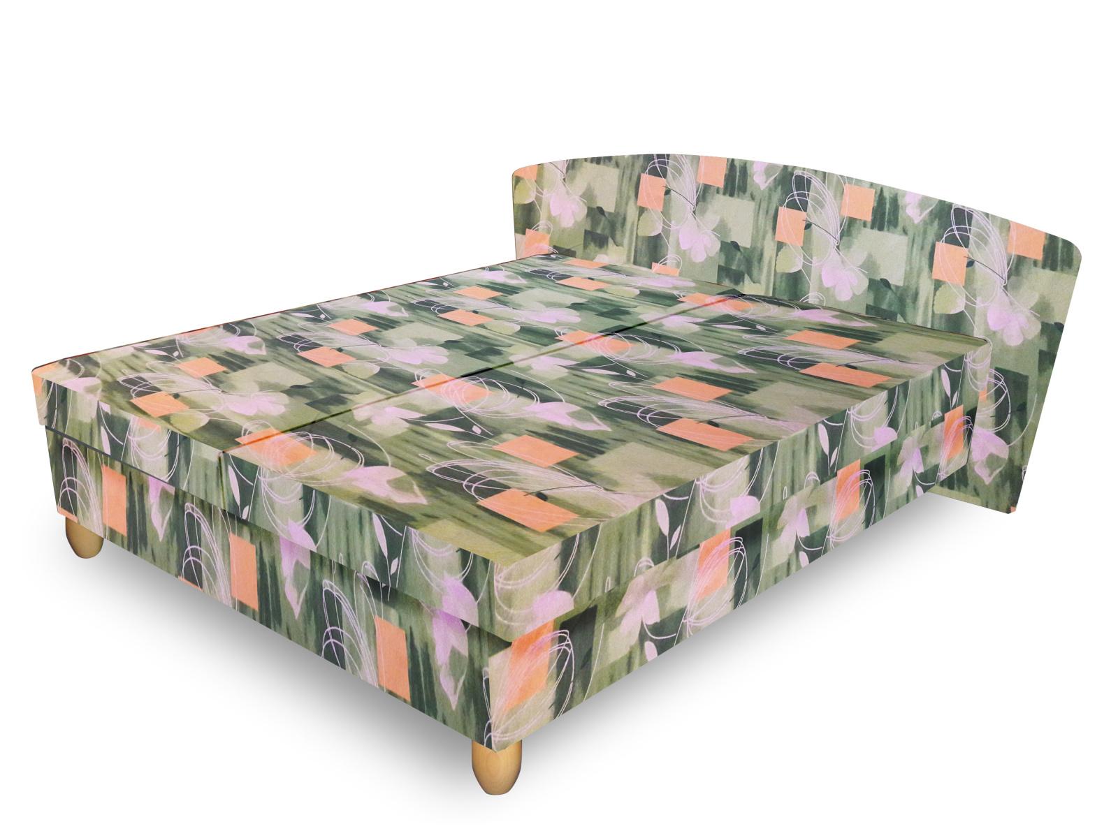 Smartshop Čalouněná postel NICOL 140x200 cm, zelená látka