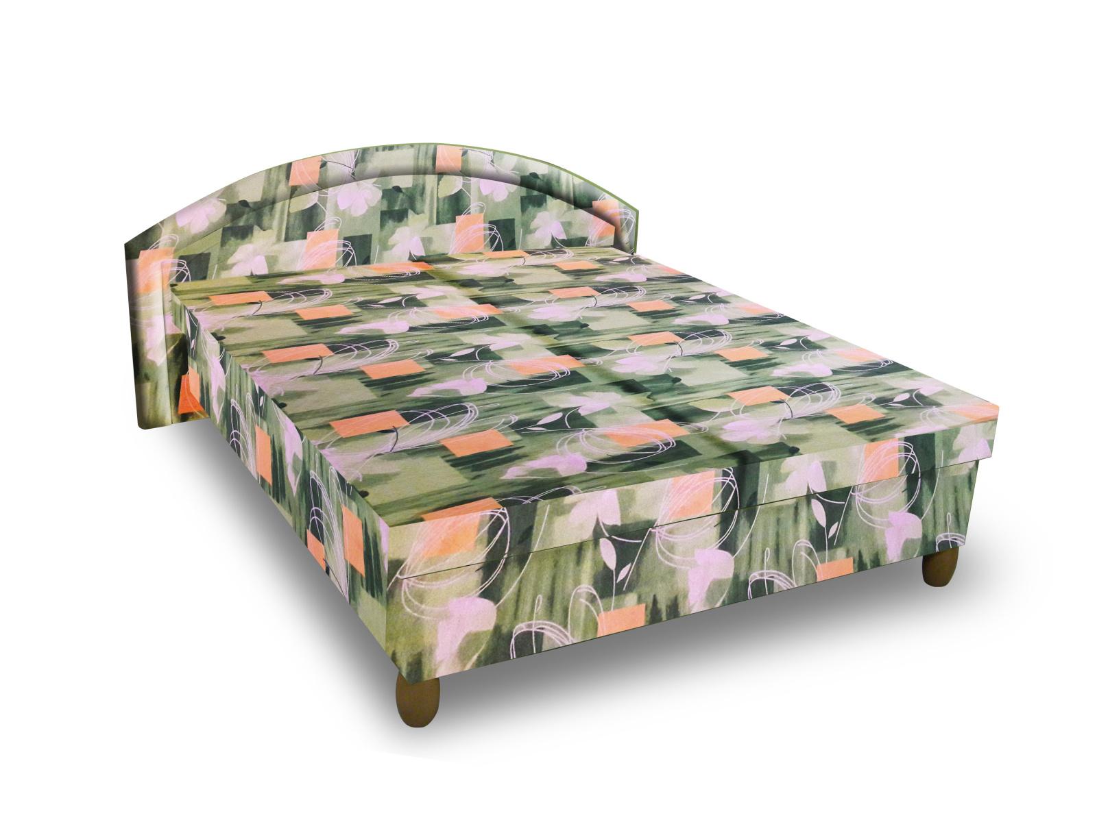 Smartshop Čalouněná postel MAGDA 120x200 cm, zelená látka