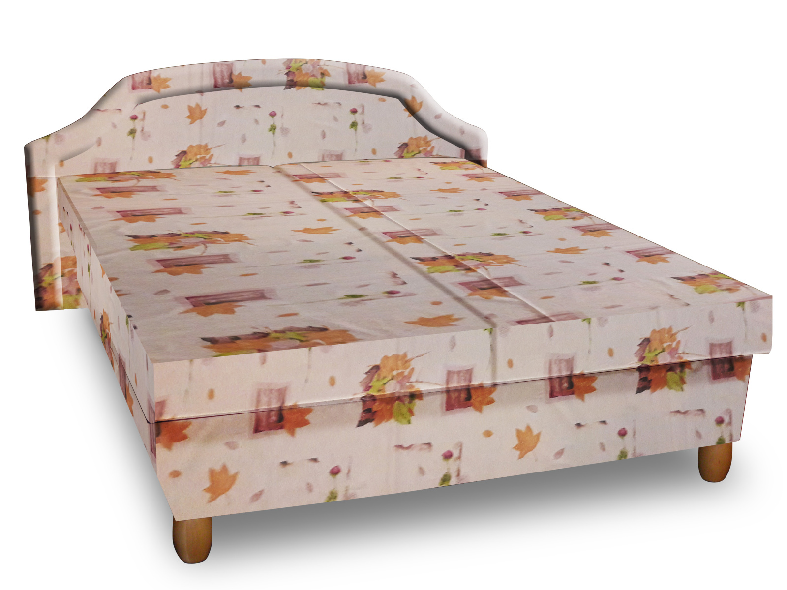 Smartshop Čalouněná postel KARINA 120x200 cm, béžová látka