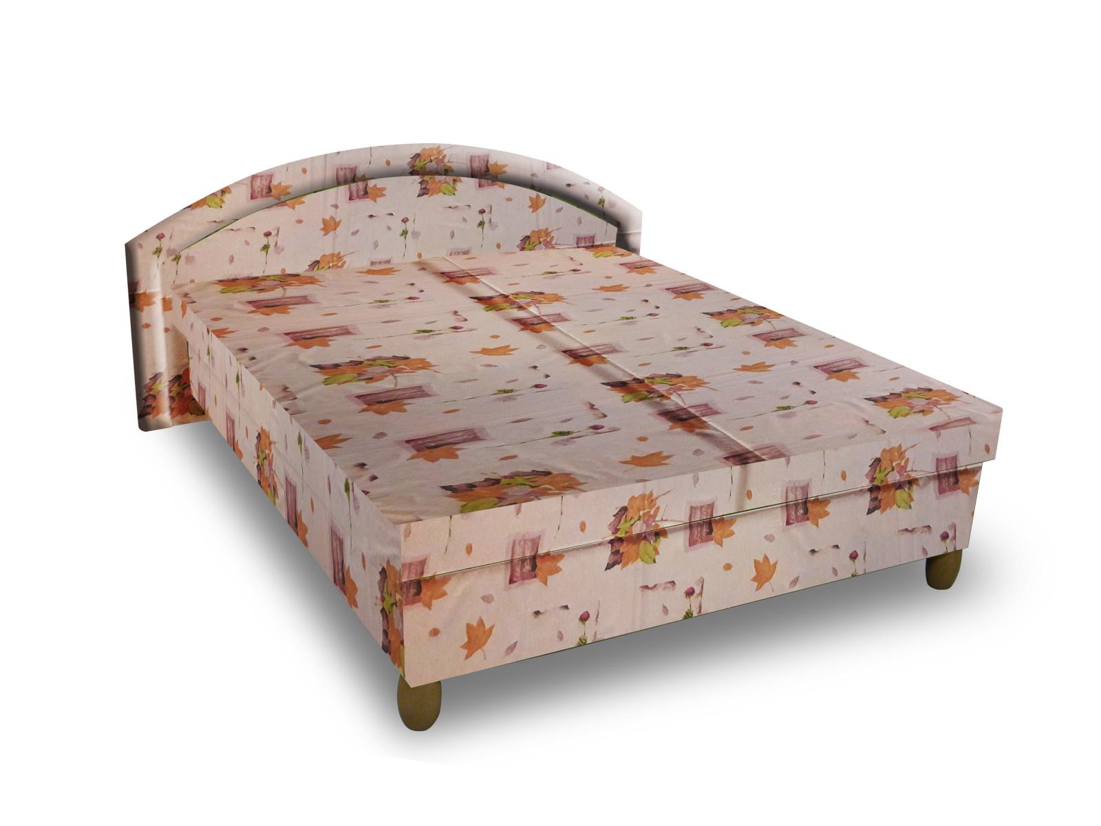 Smartshop Čalouněná postel MAGDA 160x195 cm, béžová látka