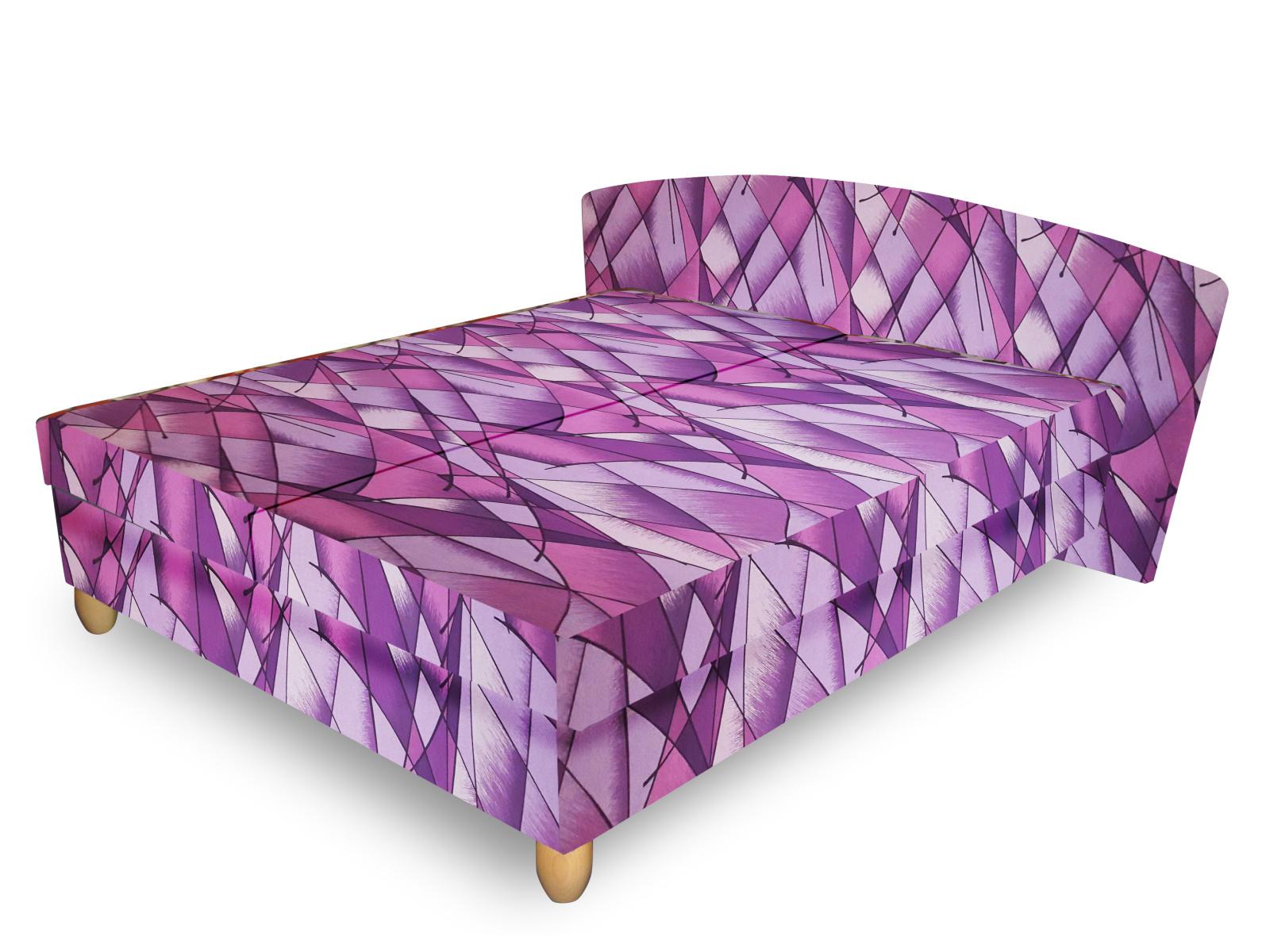 Smartshop Čalouněná postel NICOL 140x200 cm, fialová látka
