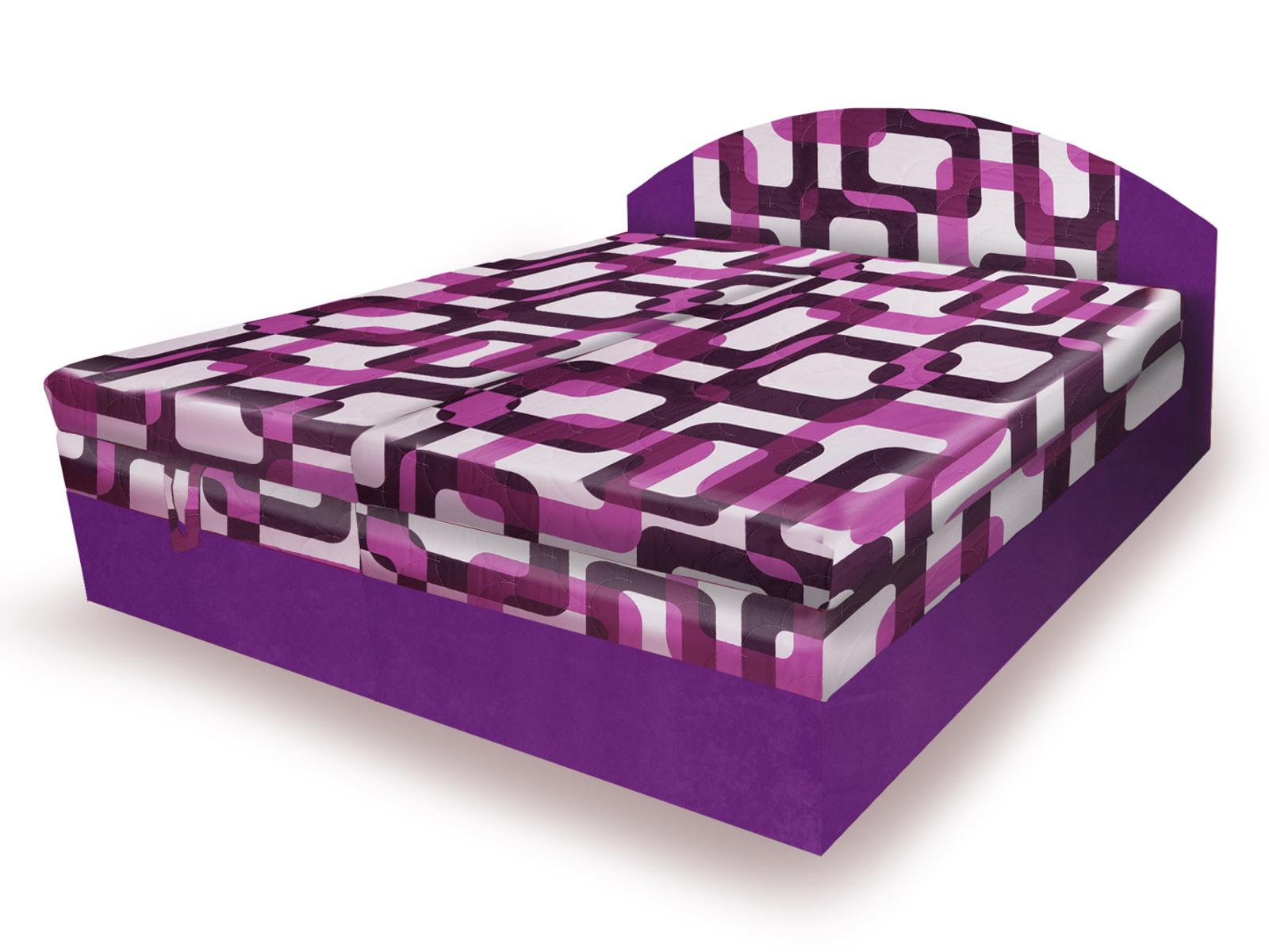 Smartshop Polohovací čalouněná postel VESNA 160x200 cm, fialová látka