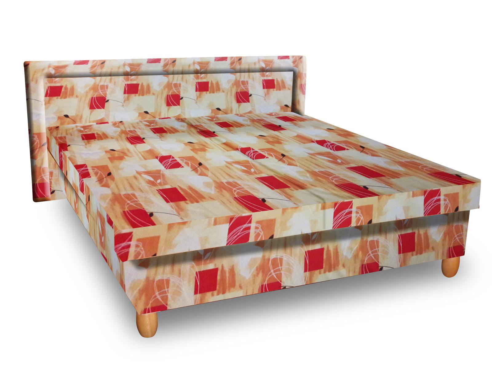 Smartshop Čalouněná postel IVA 120x200 cm, oranžová látka