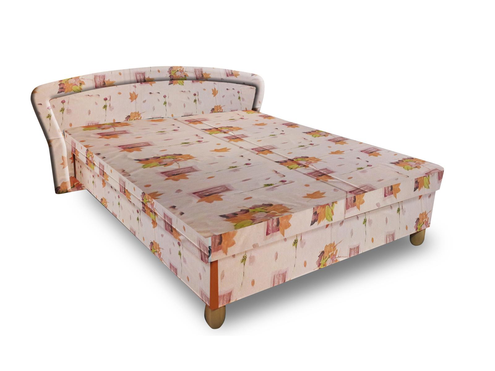 Smartshop Čalouněná postel PAVLA 120x200 cm, béžová látka