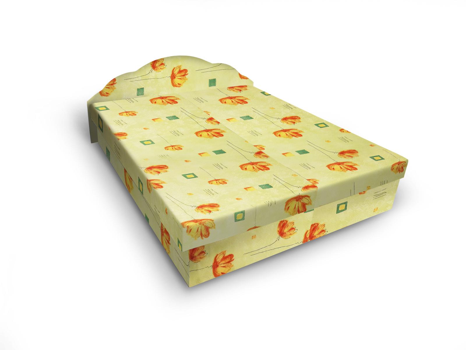 Smartshop Čalouněná postel JITKA 120x200 cm, zelená látka