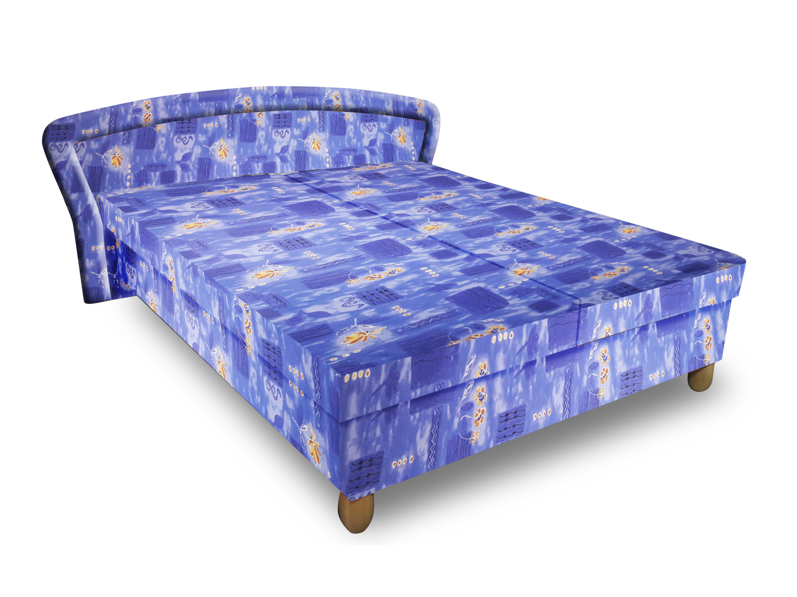 Smartshop Čalouněná postel PAVLA 120x200 cm, modrá látka