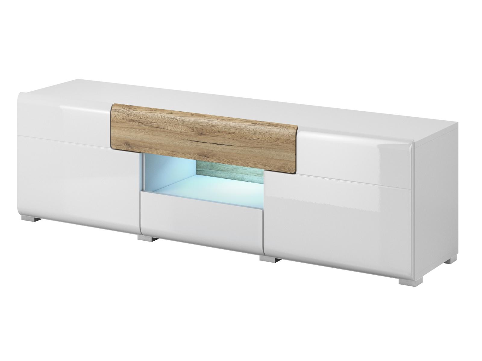 Smartshop TOLEDO TV stolek TYP 41, dub san remo/bilá lesk