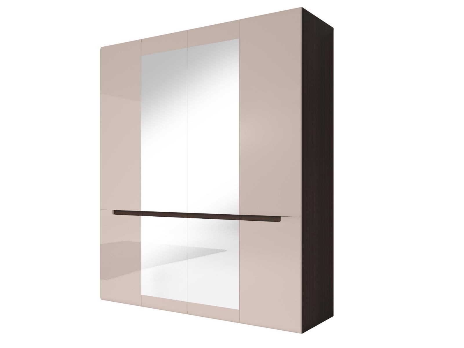 Smartshop HEKTOR šatní skříň se zrcadlem 180 TYP 20, dub sonoma tmavý/pískově šedý lesk
