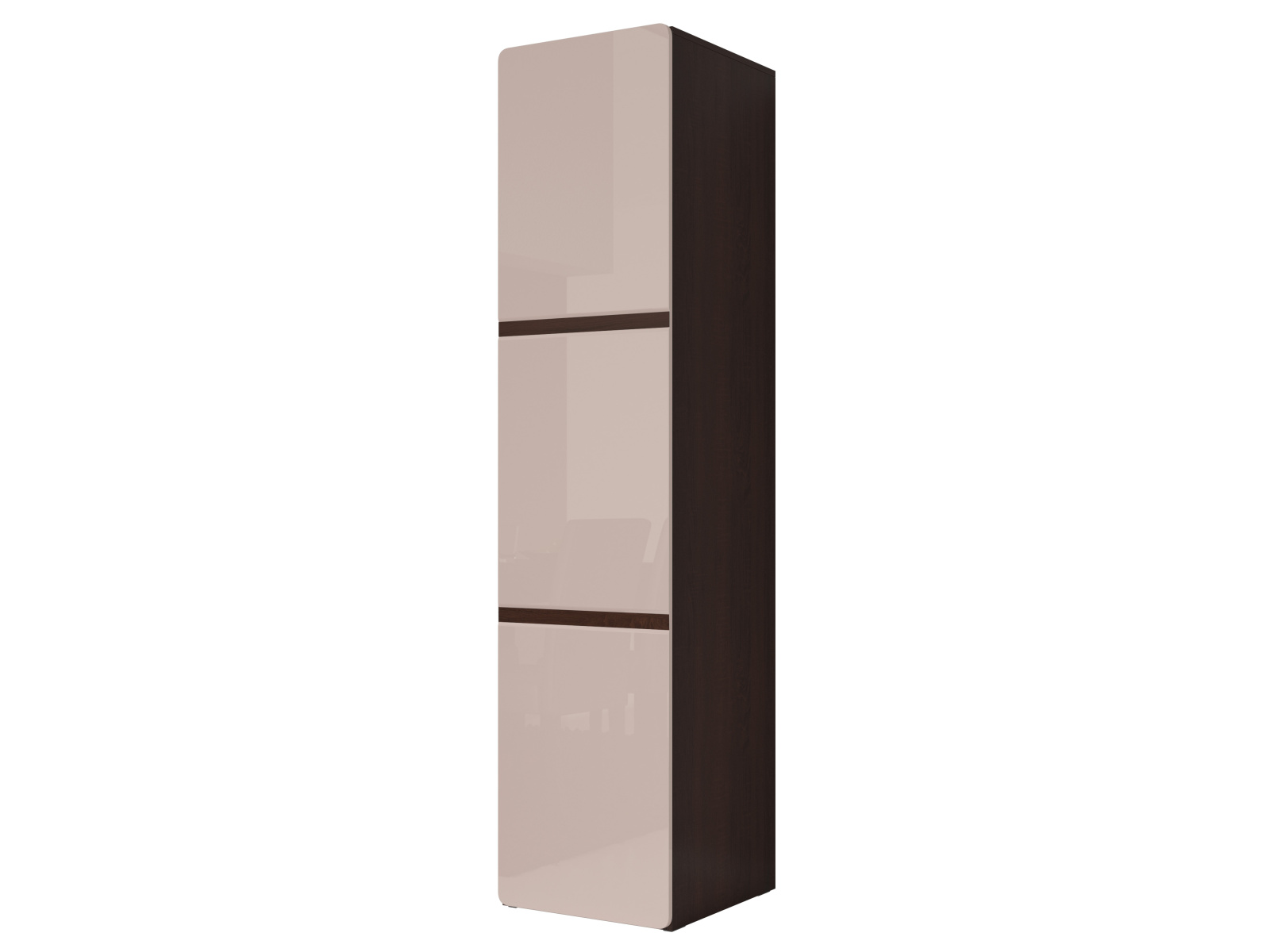 Smartshop SELENE šatní skříň TYP 17, dub sonoma tmavý/pískově šedý lesk