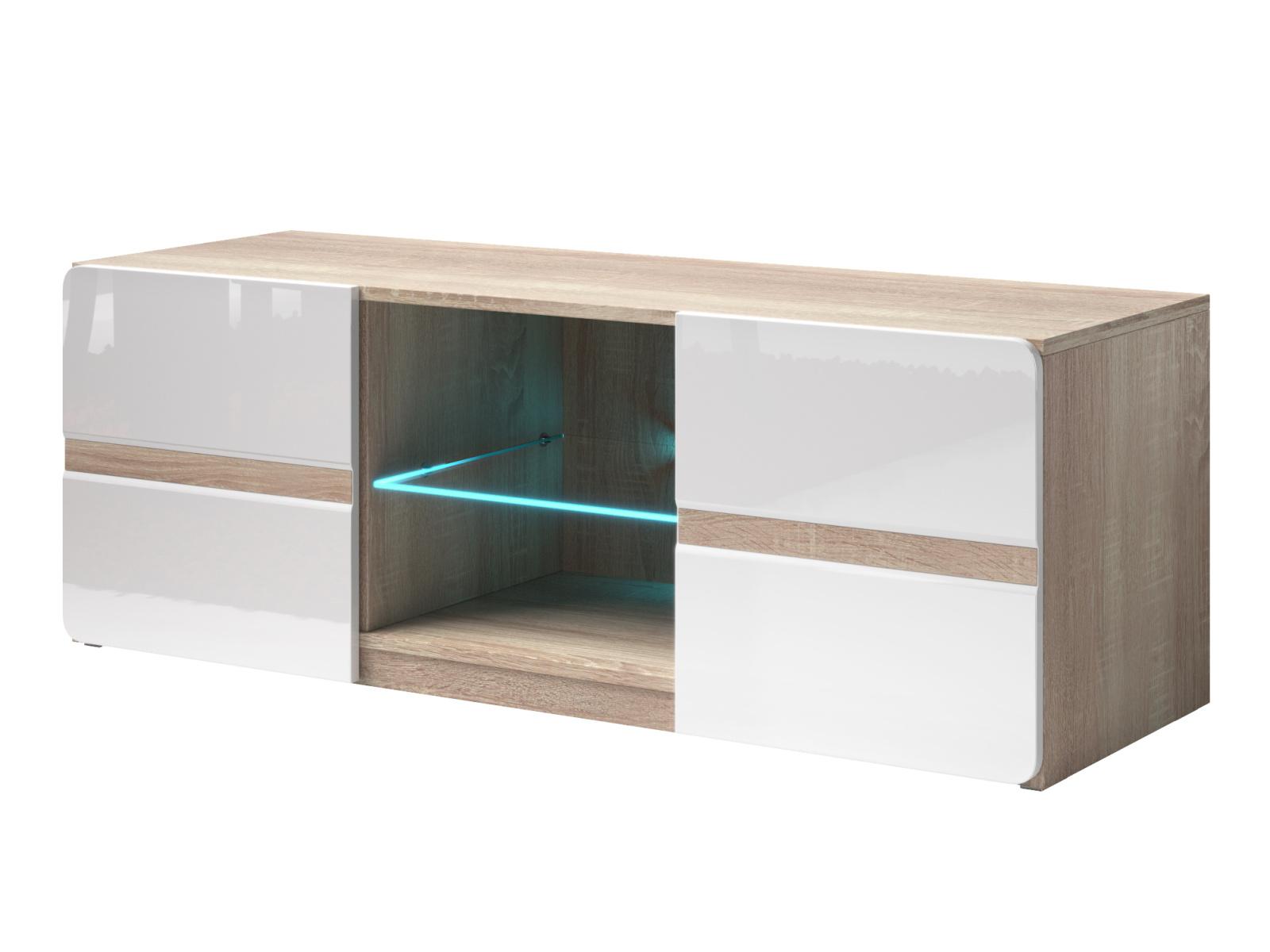 Smartshop SELENE TV stolek TYP 41, dub sonoma světlý/bílá lesk
