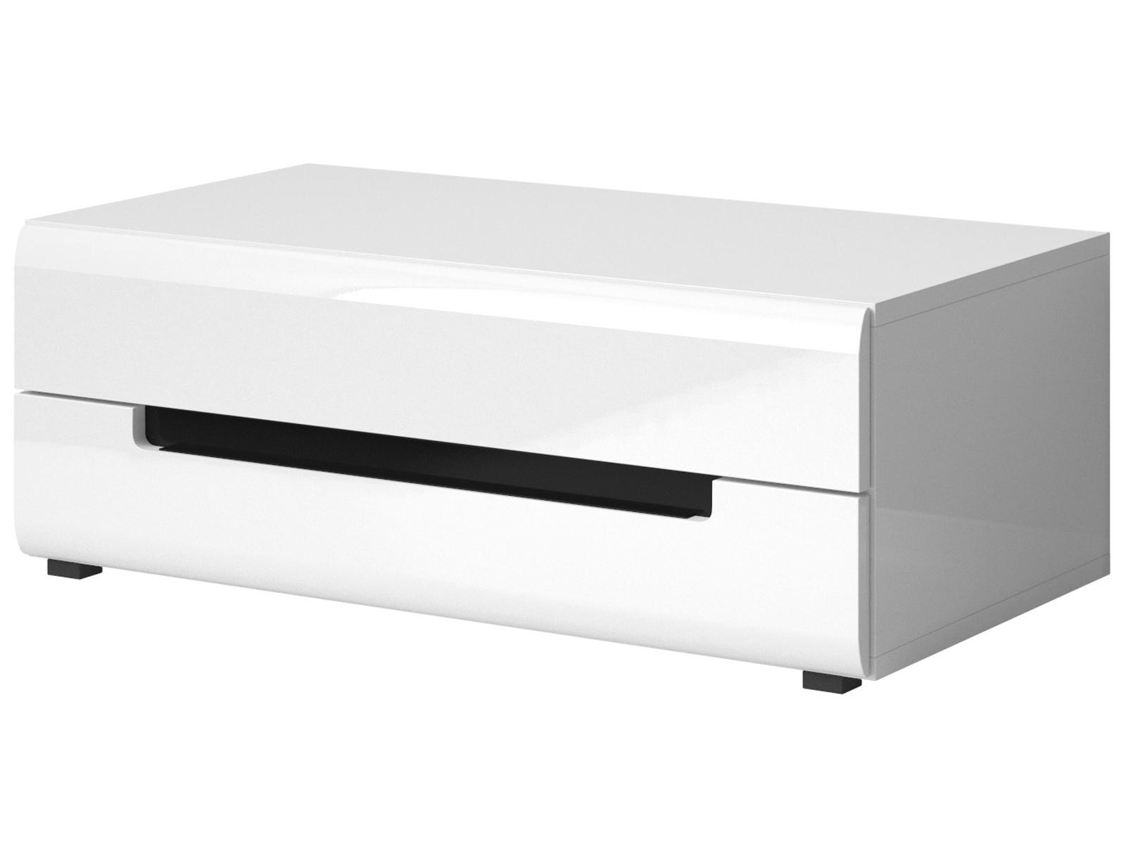Smartshop HEKTOR TV stolík TYP 41, bílá/bílá lesk