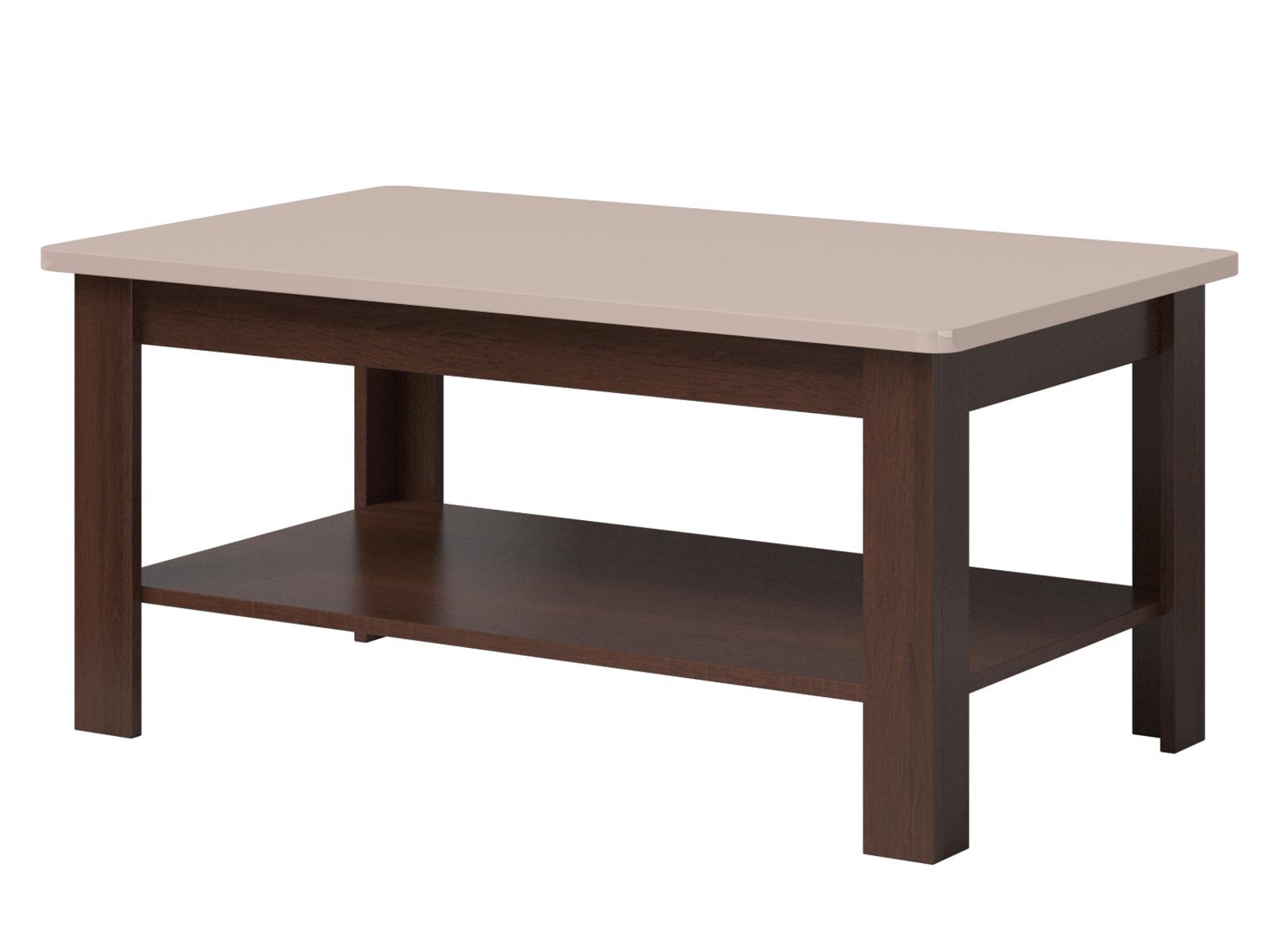 Smartshop SELENE konferenční stolek TYP 99, dub sonoma tmavý/pískově šedý lesk
