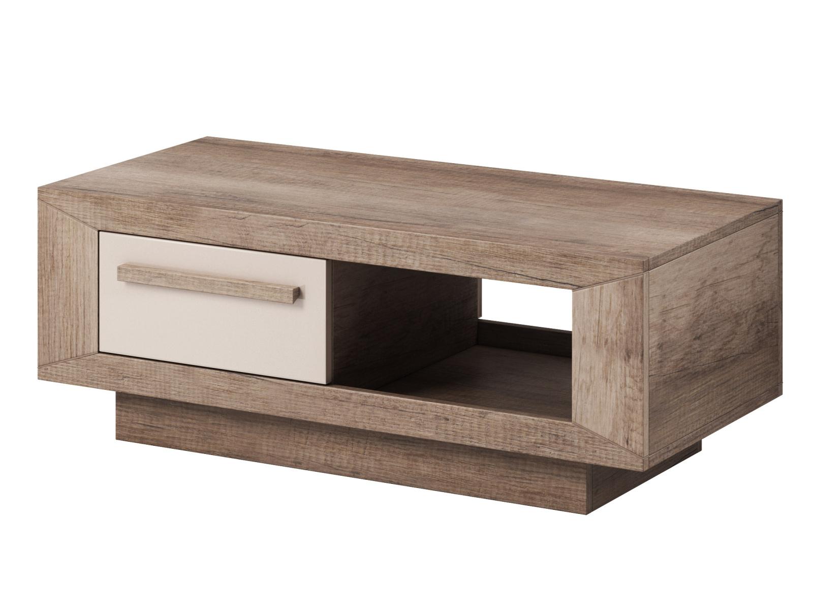 Smartshop LUMI konferenční stolek TYP 99, dub canyon monument/pískově šedý lesk