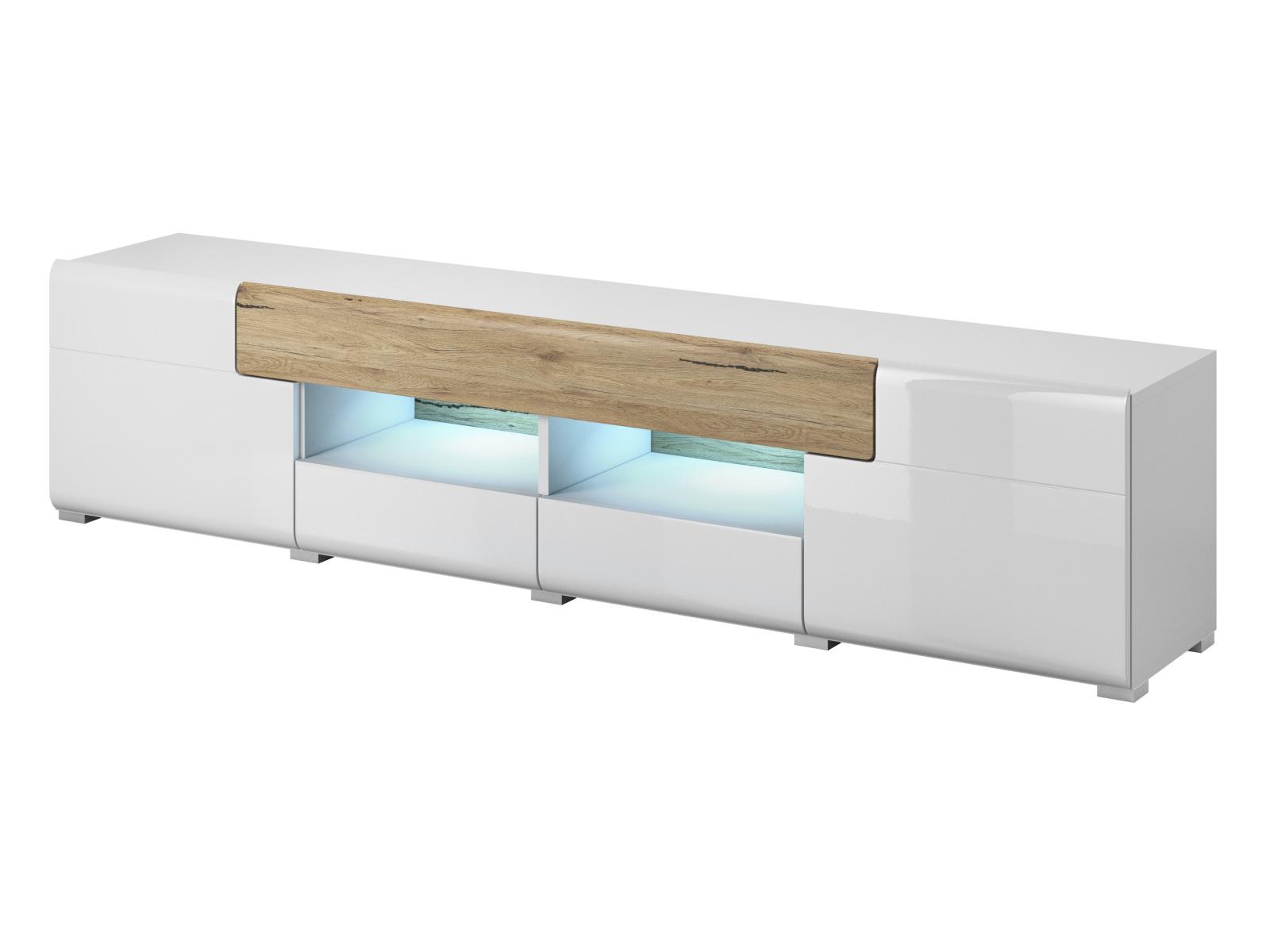 Smartshop TOLEDO TV stolek TYP 40, dub san remo/bilá lesk