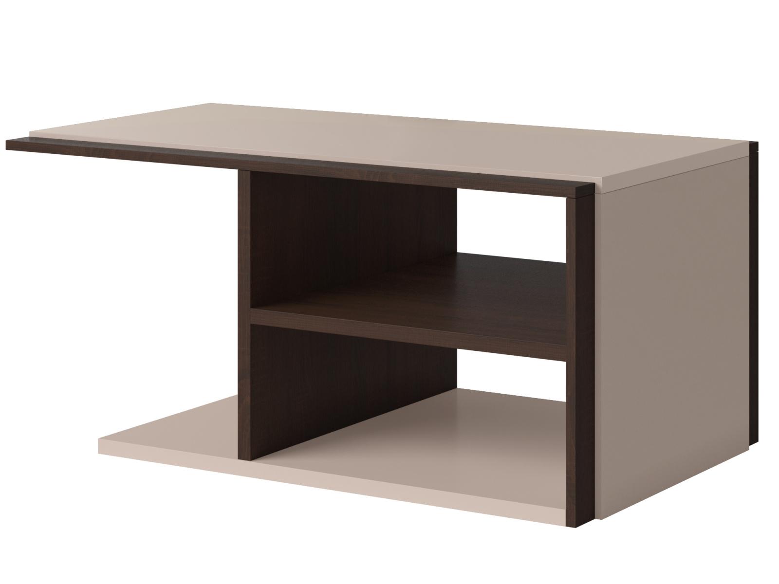 Smartshop MAGNUS konferenční stolek TYP 99, dub sonoma tmavý/pískově šedý lesk