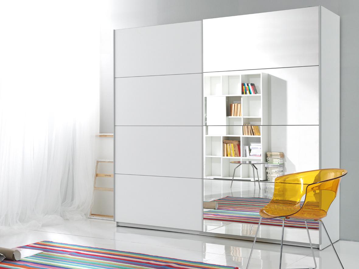 BETA šatní skříň se zrcadlem 221 TYP 58, bílá