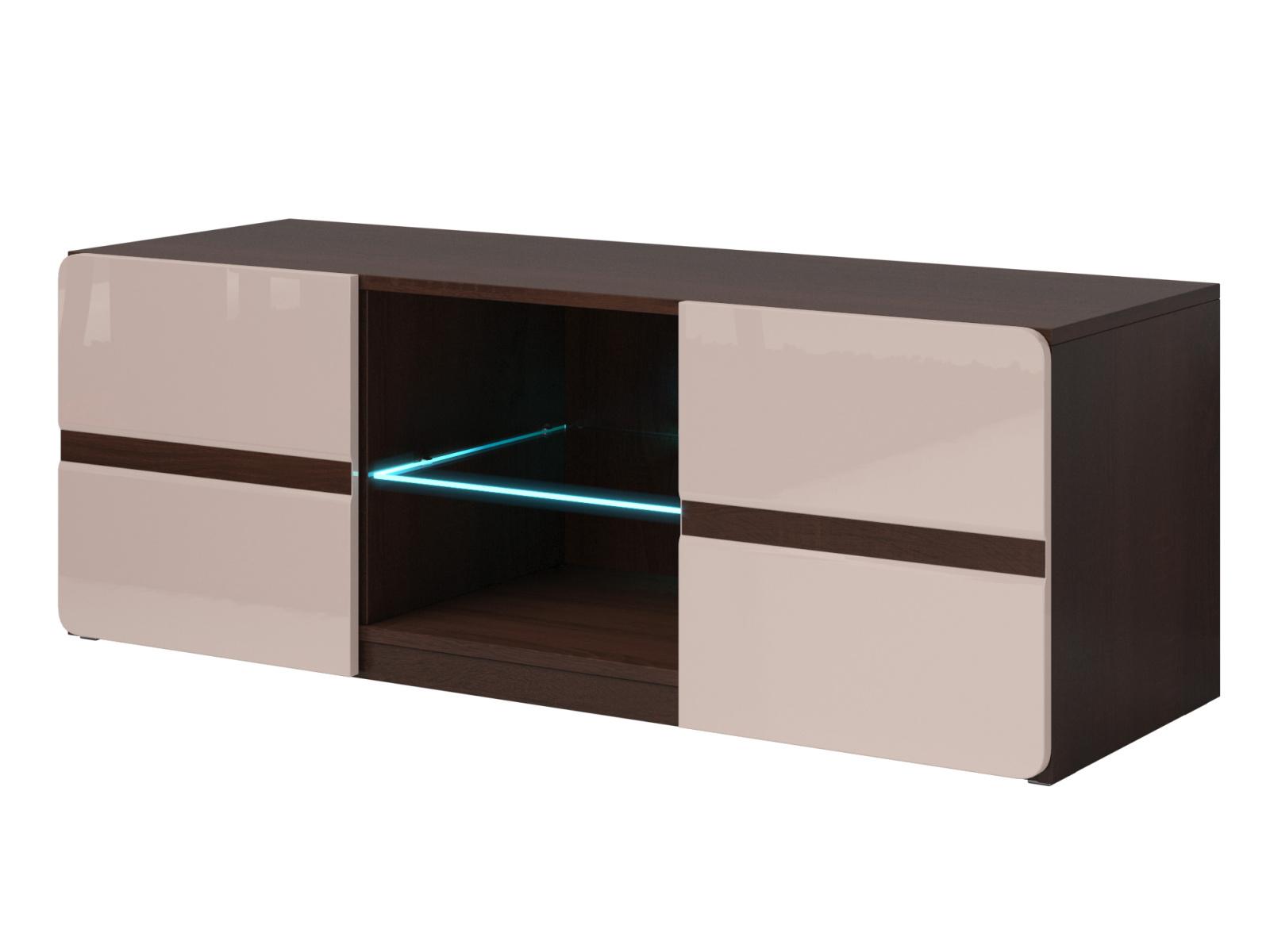 Smartshop SELENE TV stolek TYP 41, dub sonoma tmavý/pískově šedý lesk