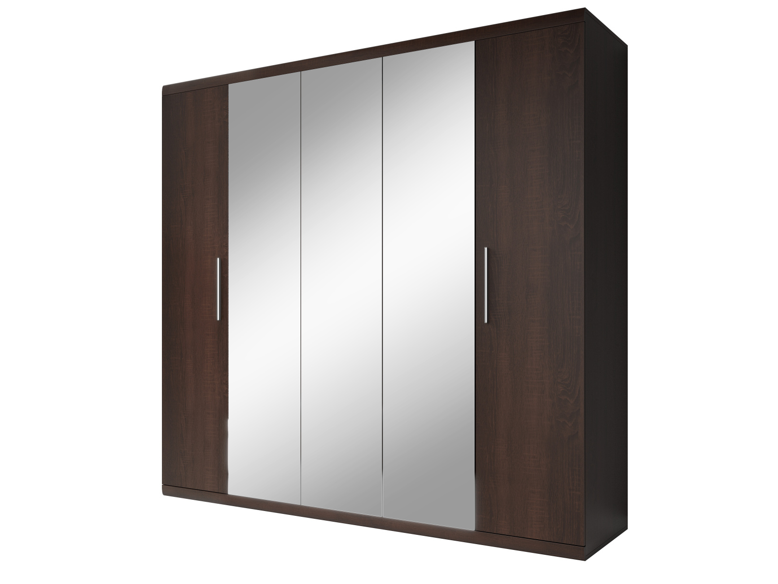 Smartshop MESTRE šatní skříň se zrcadlem 225 TYP 21, dub sonoma tmavý