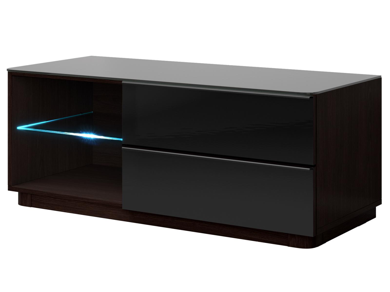 Smartshop TOGO TV stolek 120 TYP 41, wenge/černé sklo