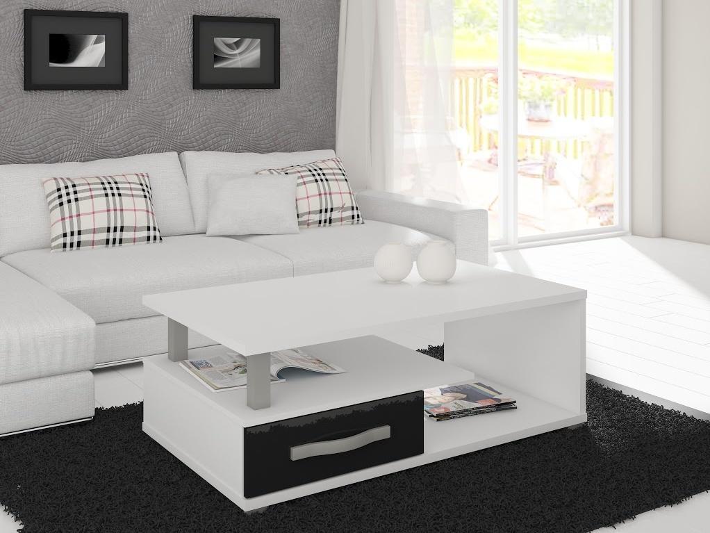 MORAVIA FLAT ANGEL konferenční stolek, švestka wallis/černý lesk