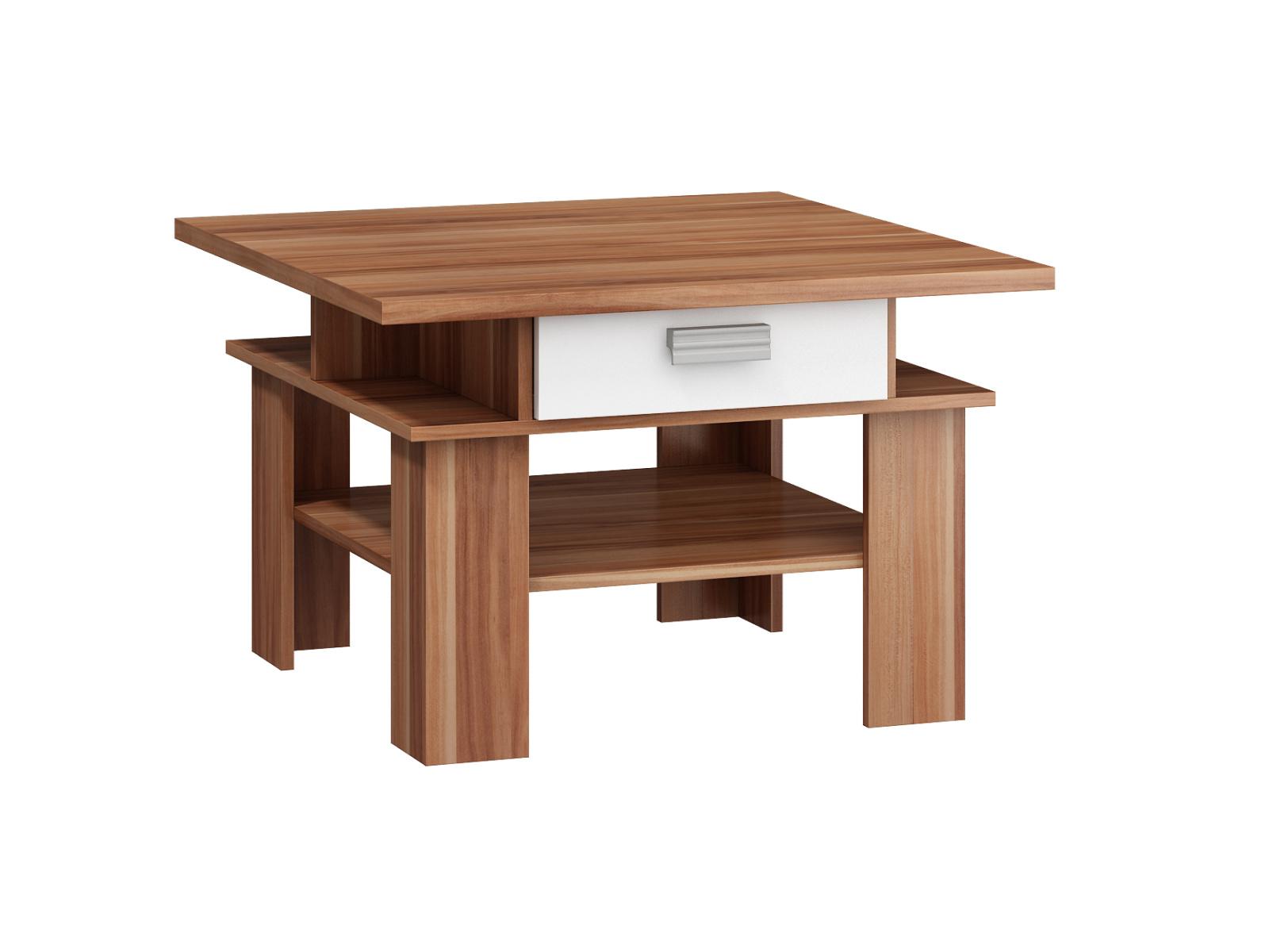 MORAVIA FLAT SOLO, konferenční stolek, švestka wallis/bílá