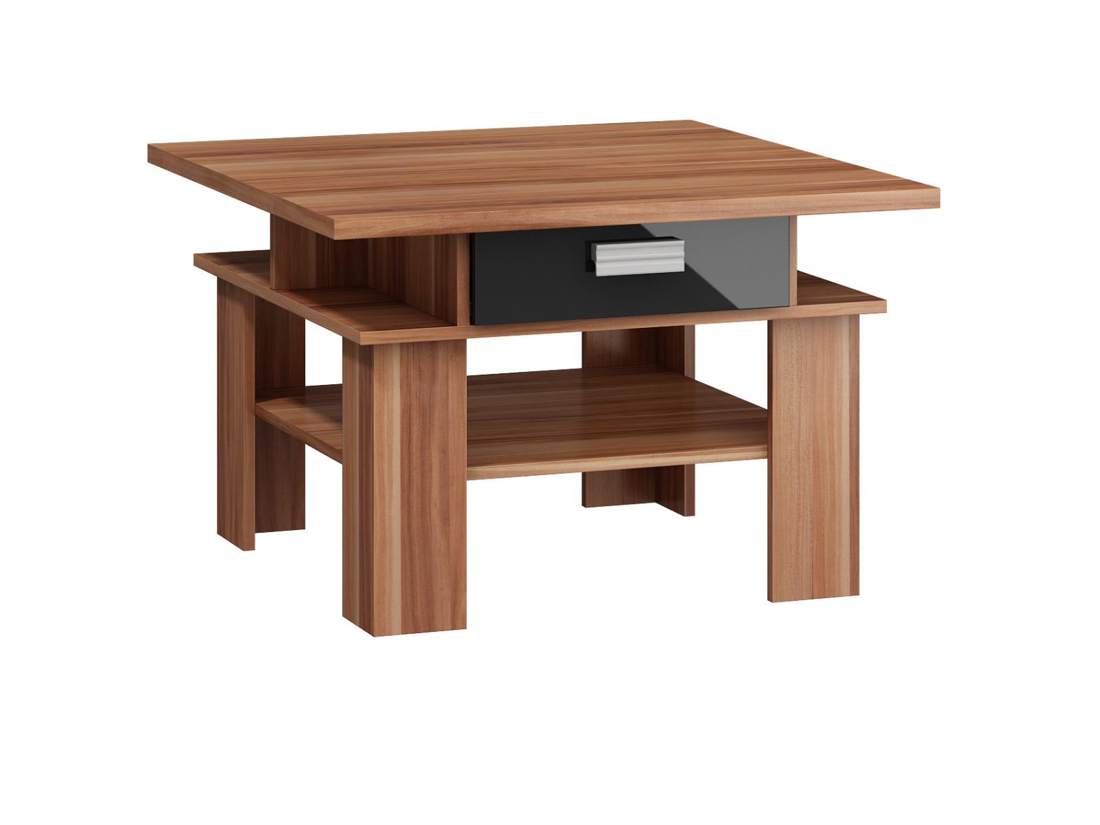 MORAVIA FLAT SOLO, konferenční stolek, švestka wallis/černý lesk
