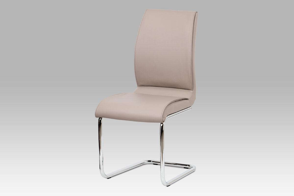 Autronic Jídelní židle DCH-575 LAN, koženka lanýžová / chrom
