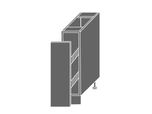 QUANTUM, skříňka dolní D/15 + cargo, pravá, white mat/bílá