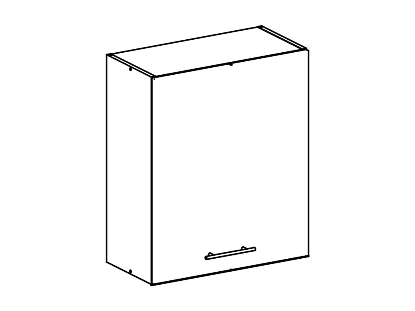 Tempo Kondela FABIANA, horní skříňka, W-60, bílá