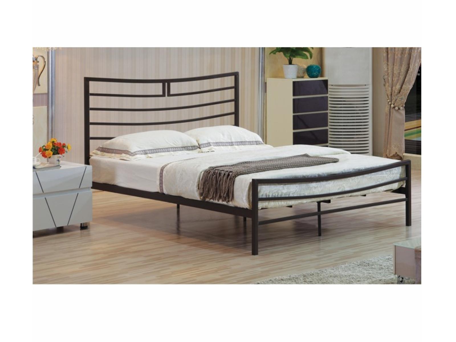 Tempo Kondela Kovová postel DALIA 180 x 200 vč. roštu, černá