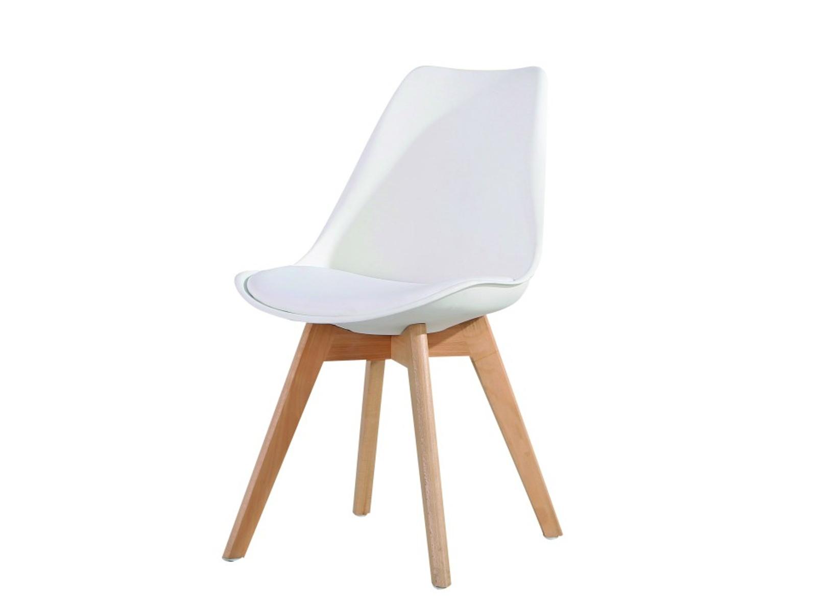 Tempo Kondela Židle BALI NEW, bílá/buk