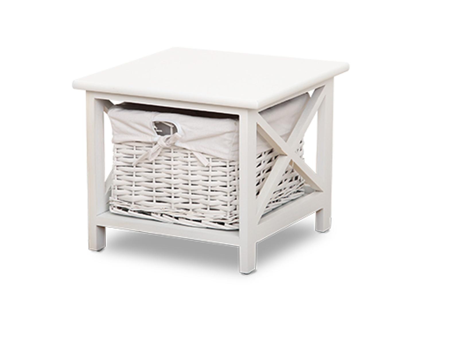 Tempo Kondela Noční stolek RAFAELLO, bílý