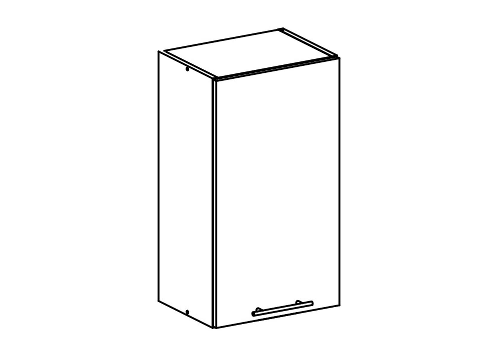 Tempo Kondela FABIANA, horní skříňka, W-40, bílá