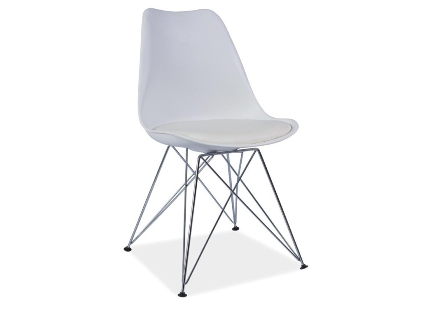 Smartshop Jídelní židle METAL NEW, bílá